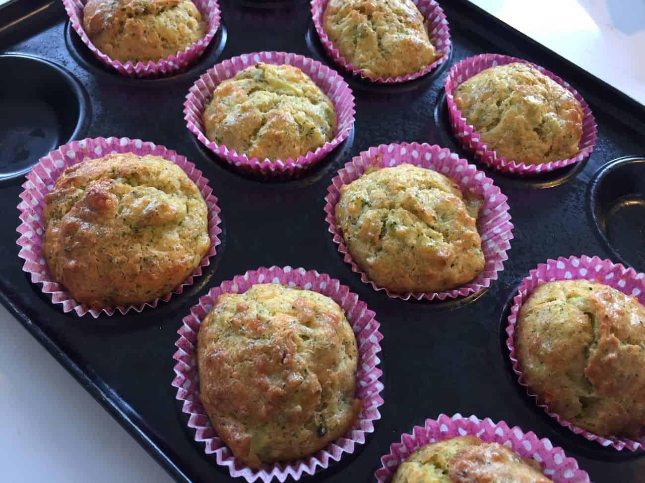 Broccoli Pesto Muffins