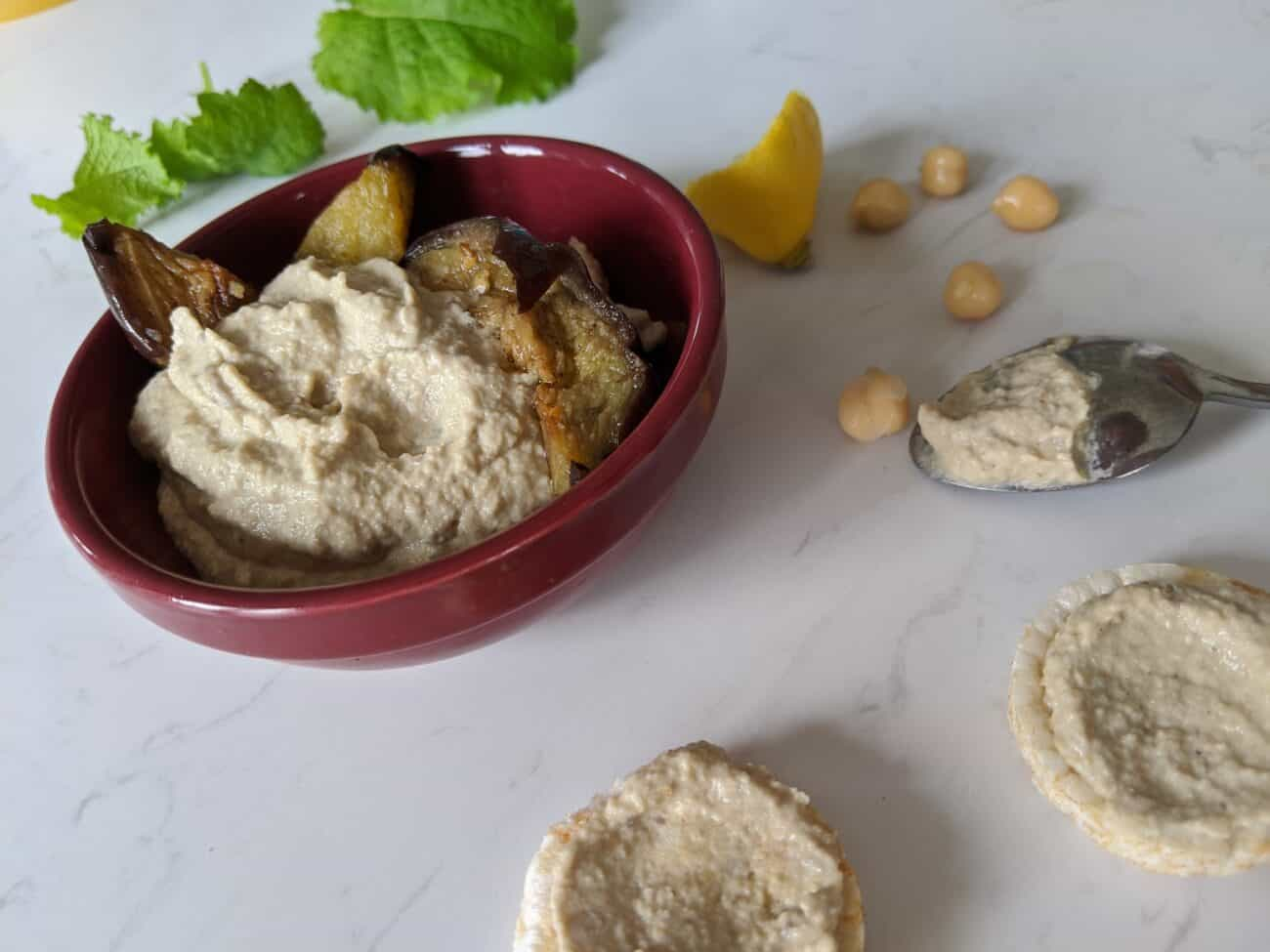Creamy Aubergine and Chickpea Dip