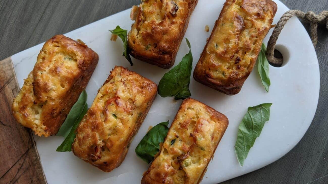 Tomato and Basil Mini Loaves