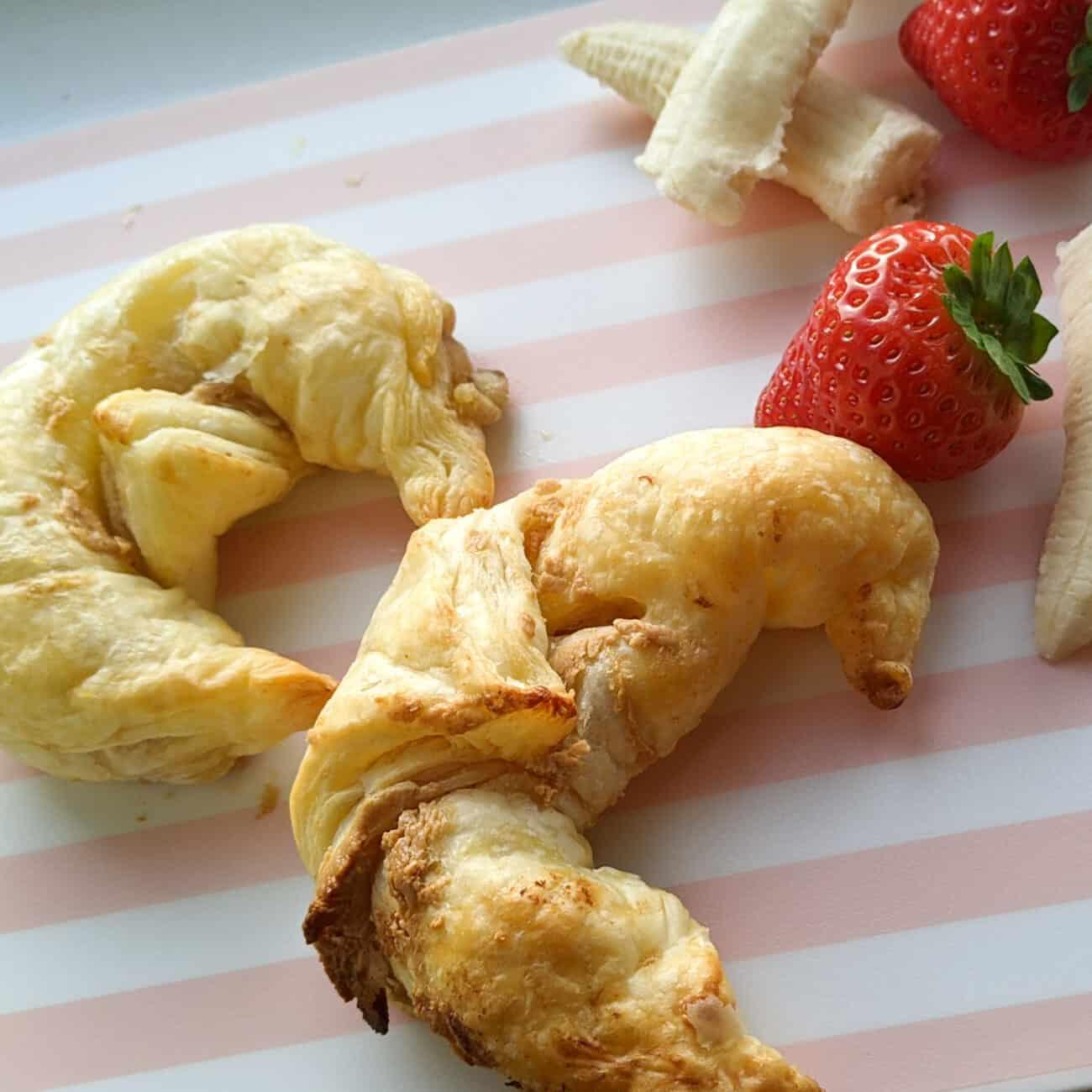 Peanut and Banana Croissants